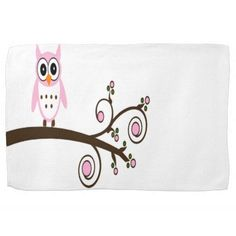 Choose from a variety of Cute kitchen towels from Zazzle. Kitchen Hand Towels, Cute Kitchen, Pink Owl, Cute Pink, Tree Branches, Baby Gifts, Sunglasses Case, Household, Gifts For Kids
