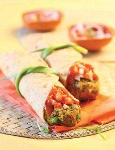 Vegetable Shikampuri Kebab Roll ( Wraps and Rolls)