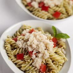 Crab Pesto Pasta #seafoodswap