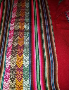 Red tribal andes blanket $30.00