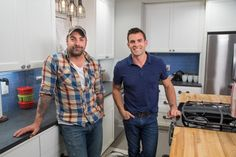 HGTV experts John Colaneri and Anthony Carrino share photos of their kitchens and design tips you can steal for your own home. Hgtv Kitchens, Cool Kitchens, Anthony Carrino, Pop Up Outlets, Kitchen Cousins, Industrial Farmhouse Kitchen, Design My Kitchen, Hgtv Shows, Contemporary Barn