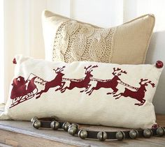 Darling pillow for Christmas decorating