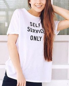 Self service only t shirt design white xxxl tee shirt with sayings for women f366041f0