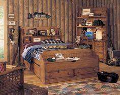 Un dormitorio rústico