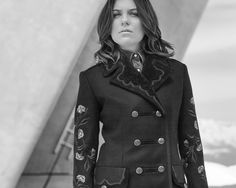 Morgane Polanski strikes a pose in the new Women's Army Coat. Join her behind the scenes of the Fay Fall-Winter 2016/17 campaign shoot.