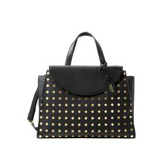 The A Satchel in Gold Dot - Kate Spade Saturday. With the leather tag and wallet in blue. Must have it!!!
