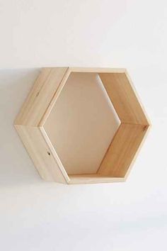 Honeycomb Wood Shelf - Urban Outfitters. 12 x 5 x 11 white or natural. $79 for 2