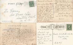 Free Printable Background: Vintage Postcard Back Background Paper Design