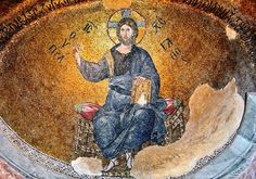 Mosaic Christ Enthroned Church of Theotokos Pammakaristos Istanbul Turkey Christ Pantocrator, Day Of Pentecost, Religion, Christ The King, Byzantine Art, Blessed Mother, Dark Ages, 14th Century, Mosaic Art