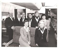 Pan Am L1011 First Class Cabin and Cabin Crew