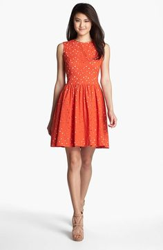 Could I wear this to UT games?   Vince Camuto Sleeveless Cutout Dress available at #Nordstrom