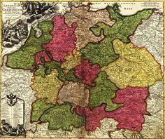 Print (Germany - (1700) - Panoramic Map)