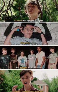 movie memes - This summer. We should have fun. - This summer! We are children! I can hardly breathe, I have panic araki. - Yes, its summer. We should be on the street. - If you at least once again say quot;this summerquot; Movie Memes, Movie Quotes, Funny Memes, It The Clown Movie, I Movie, Scary Movies, Good Movies, It Movie 2017 Cast, Pennywise The Dancing Clown