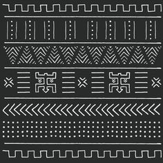 Black and white tribal ethnic pattern with geometric elements, traditional Afric… Black and white tribal ethnic pattern with geometric elements, traditional African mud cloth, tribal design Premium Vector Cultural Patterns, Ethnic Patterns, African Tribal Patterns, Gimp Patterns, African Design, African Art, Ethnic Design, Tribal Pattern Art, Aztec Art