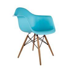 Montmartre Arm Chair in Aqua   dotandbo.com