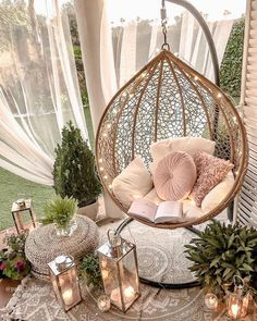 Trendy Small Balcony & Patio Decorating Ideas with Tips - Cozy Home 101 Room Ideas Bedroom, Girls Bedroom, Bedroom Decor, Girl Bedroom Designs, Bath Decor, Purple Bedroom Design, Romantic Bedroom Design, Yoga Room Decor, Teen Girl Bedding