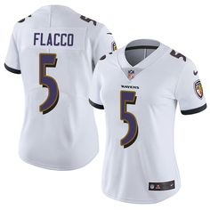 Nike Ravens Justin Tucker White Women's Stitched NFL Vapor Untouchable Limited Jersey And Cowboys Jason Witten 82 jersey Ravens Jersey, Jason Witten, Cycling Outfit, Cycling Clothing, Jersey Outfit, Nfl Shop, Baltimore Ravens, Nfl Jerseys, White Women