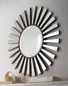"""""""Sunburst"""" Mirror at Horchow."""
