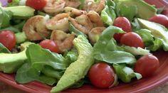 Garlic-Black Pepper Shrimp & Avocado Salad