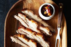 Canal House's Pork Belly with Gingery Rhubarb Compote, a recipe on Food52