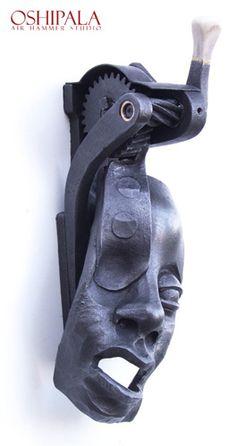 Door Knocker from Finnish blacksmith Jesse Sippola. oshipala.com....WOW!!