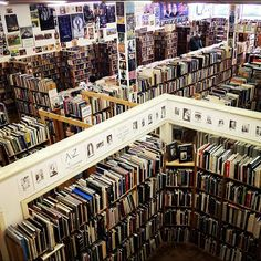 Inside Recycled Books, Records Denton, Texas. This is a must see place when visiting Denton