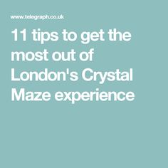 11 tips to get the most out of London's Crystal Maze experience Crystal Maze, London Tips, Weird And Wonderful, Learning, Crystals, Studying, Crystal, Teaching, Crystals Minerals