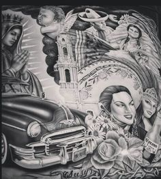 Chicano Tattoos, Chicano Art, Mexican American, Mexican Art, Azteca Tattoo, Cholo Style, Prison Art, Lowrider Art, Brown Pride