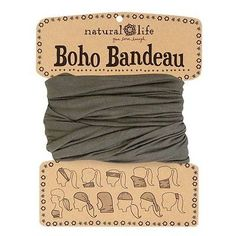 109c08a1274c NATURAL LIFE BOHO BANDEAU SOLID OLIVE CHIC STRETCH MULTIPLE WEARING CHIC  STYLE in Clothing