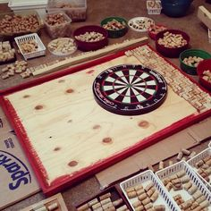Wine cork dart board