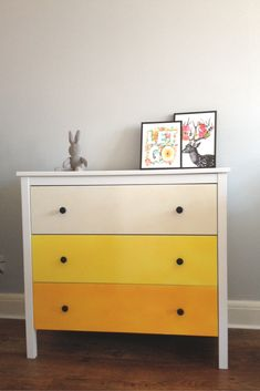 Ombre Chest of Drawers: Koppang Ikea Hack