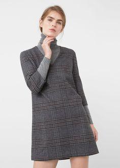 Check shift dress - Dresses for Woman   MANGO USA