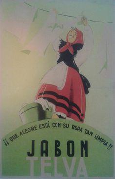 Anuncio de 1942 del JABÓN TELVA, de Oviedo