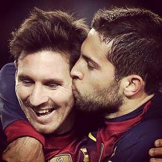 Jordi Alba and Leo Messi  FC Barcelona