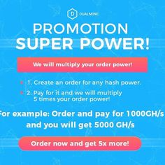 Dualmine - Multiply your Bitcoin, Ethereum, Litecoin and Dogecoin Cloud Mining, Bitcoin Transaction, Super Powers, Promotion