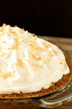 Coconut Cream Pie -- my daughter made this and it was delicious. She just used a store bought crust for her first try...still licked the plate clean!