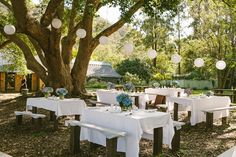 Outdoor county wedding reception. St Albans NSW wedding. Image: Cavanagh Photography http://cavanaghphotography.com.au