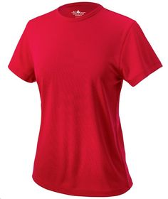Charles River Apparel Style 2830 Women's Pique Wicking Tee - SweatshirtStation.com #redtshirt #ladiesshirt #charlesriverapparel