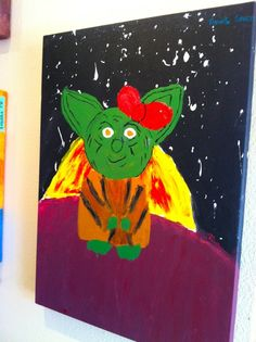 Yoda-ette at Goat Hill Pizza San Francisco Restaurants, Nativity, Goats, Pizza, Painting, Art, Art Background, The Nativity, Painting Art