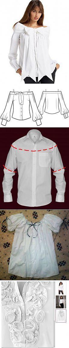 Как переделать мужские рубашки