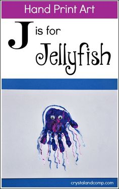 Are you ready for some fun activities for kids as you teach your little one the letter J? This week ourhand print artis gorgeous! We're making a jellyfish! What are some other words you can think...