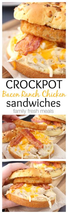 Bacon Ranch Chicken Sandwiches - An easy family dinner everyone will LOVE - familyfreshmeals.com