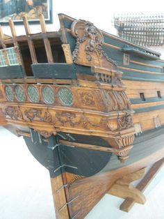 L'Agreable 1669 4 - L'Agreable 1669 - French - Musee de Paris - Gallery - Model Ship World Pirate Code, Hobie Kayak, Boat Stuff, Wooden Ship, Model Ships, Model Building, Historian, 17th Century, Scale Models