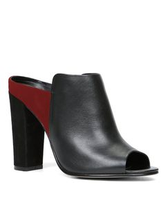 Be bold & beautiful in a stylish block-heel mule that's easy to wear - just slip them on & go! We're loving the color block red/black combo... what about you?