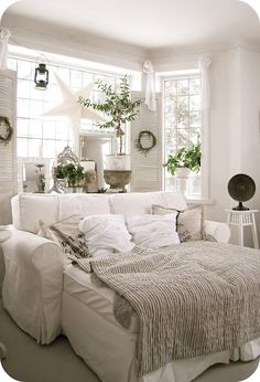 cozy and white