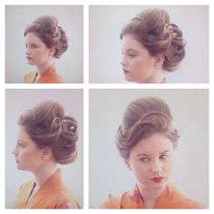 Updo for a theme party by Brenda!