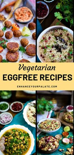 Whether you are allergic to eggs or don't like its taste and flavors. Here is a collection of recipes which don't require egg in their ingredient list. Most of EYP recipes are egg-free recipes as I am myself not a big egg eater. In this collection, you'll find egg-less desserts, curries, breads and snack recipes. A recipe for every meal time. #EggFreeRecipe #VeganRecipes Vegetarian One Pot Meals, Vegetarian Recipes For Beginners, Cooking For Beginners, Vegetarian Appetizers, Appetizer Recipes, Snack Recipes, Eggless Recipes, Vegan Recipes, Egg Free Recipes