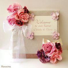 【SOLD OUT】お花のウェディングウェルカムボード / ピンク・パープル系 by Harunowa フラワー
