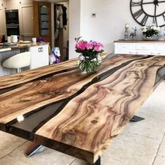 Mesa Live Edge, Live Edge Wood, Live Edge Table, Live Edge Console Table, Wood Resin Table, Wooden Tables, Timber Table, Outdoor Wood Table, Resin Table Top