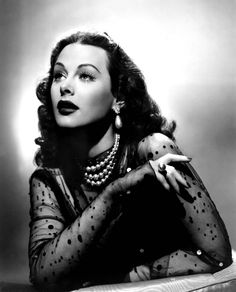 Glamorous yes, but Hedy's one of the smartest ladies I know.  She laughs at me for it, but I always call her the sexy scientist!  (Hedy Lamarr. 1940s)